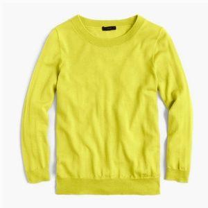J.Crew Sweater Yellow Merino Wool pullover